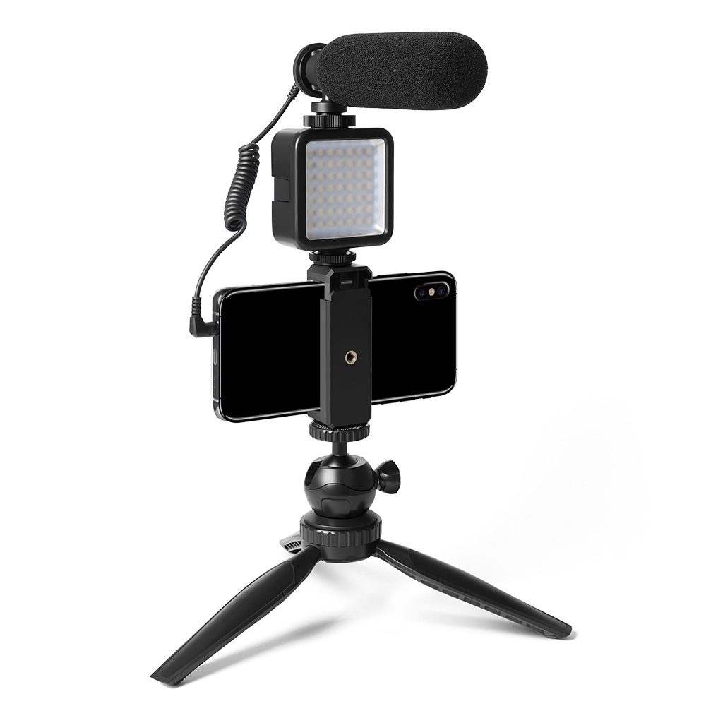 Maono Professional Vlogging Microphone with Tripod and Video Light - CM11PL