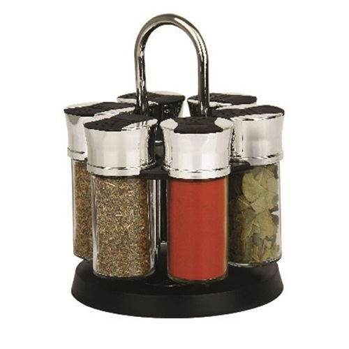 Westinghouse Countertop Herb and Spice Rack with 6 Glass Jars - WCGW0011