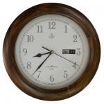 Woodpecker Quartz Analog Round Wall Clock with Calendar 28cm Diameter - 7288