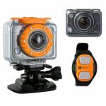 HP Wi-Fi Sports Action Camera Full HD Waterproof 5MP 170 Degree Wide Angle with Wrist Remote and Mounting Kit - AC200W