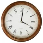 Woodpecker Quartz Analog Round Wall Clock 36cm Diameter - 7378